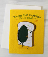 """Avocado Toast,"" Blank Greeting Card"