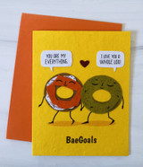 """Bae-Goals,"" Blank Greeting Card"
