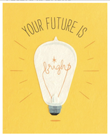 """Future is Bright,"" Blank Greeting Card"