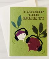 """""""Turnip the Beat,"""" Blank Greeting Card"""