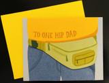 """One Hip Dad,"" Blank Greeting Card"