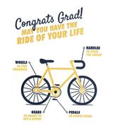 Congrats Grad Bike, Blank Greeting Card