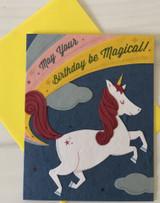 Magic Unicorn Birthday, Blank Greeting Card
