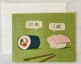 Sushi Roll, Blank Greeting Card