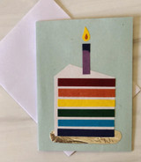 Rainbow Cake, Blank Greeting Card