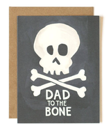 """Dad to the Bone,"" Blank Greeting Card"