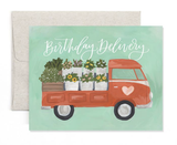 """Birthday Delivery"" Truck, Blank Greeting Card"
