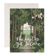 """best is yet to come"" Wedding, Blank Greeting Card"