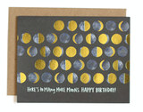 """""""Many More Moons HBD,"""" Blank Greeting Card"""