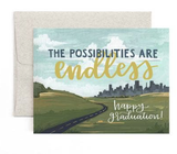 """Possibilities are Endless"" Graduation, Blank Greeting Card"