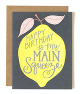 """Main Squeeze"" HBD, Blank Greeting Card"