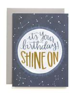 """Shine On"" Birthday, Blank Greeting Card"