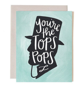 """""""Tops Pops,"""" Blank Greeting Card"""