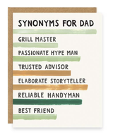 """Synonyms For Dad,"" Blank Greeting Card"