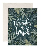 """thanks a bunch"" Herbs, Blank Greeting Card"