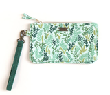 Mint Meadow Floral Clutch Pouch