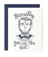 Honest Abe, Blank Greeting Card