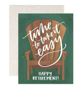 Retirement Chair, Blank Greeting Card