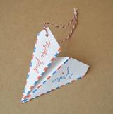 Paper Airplane Ornament