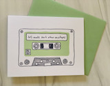 Mix Tape, Blank Greeting Card
