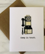 """Keep in Touch,"" Blank Greeting Card"