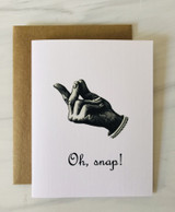 """Oh Snap,"" Blank Greeting Card"