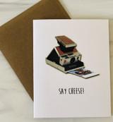 """Say Cheese,"" Blank Greeting Card"