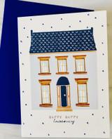 """Happy Happy Housewarming,"" Blank Greeting Card"