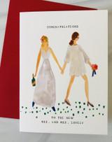 Mrs & Mrs Lovely, Blank Greeting Card