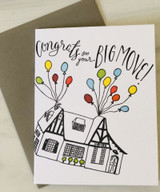 """Congrats on your Big Move,"" Blank Greeting Card"