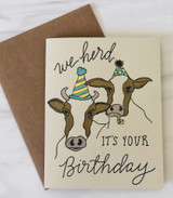 """""""Herd it's your Birthday,"""" Blank Greeting Card"""