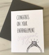 """Engagement/Entanglement,"" Blank Greeting Card"