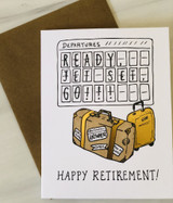"""Ready Jet-Set Go, Retirement,"" Blank Greeting Card"