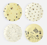 Busy Bees, Melamine Plates, set/4