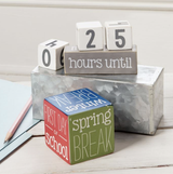 Teacher Break Countdown Block