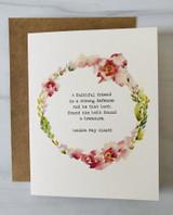 """""""A Faithful Friend,"""" Blank Greeting Card"""