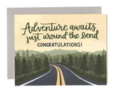 """Adventure Bend,"" Blank Greeting Card"