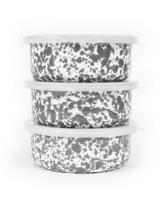 Grey Marble Enamelware Storage Bowl with Lid
