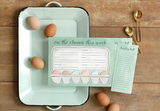 Egg Menu Planning Notepad