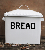 B&W Enamel Breadbox