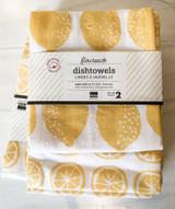 Lemon Floursack Dishtowel, set/2