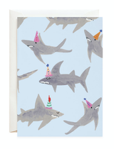 Petite Card: Party Sharks
