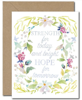 """Strength for Today,"" Blank Greeting Card"