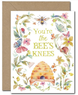 """Bee's Knees,"" Blank Greeting Card"
