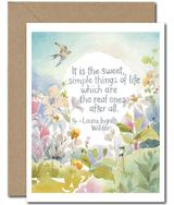 """""""Sweet Simple Things of Life,"""" Blank Greeting Card"""