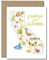 """Greetings from CALIFORNIA,"" Blank Greeting Card"