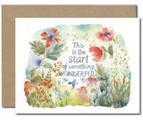 """Start of Something Wonderful,"" Blank Greeting Card"