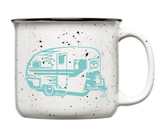 Vintage Trailer Ceramic Camp Mug, 15oz