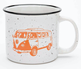 Retro Bus Ceramic Camp Mug, 15oz