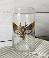 Deathhead Moth Glass Can, 15oz